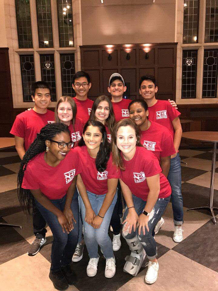 The Class of 2021 at Midnight Breakfast Fall 2017.