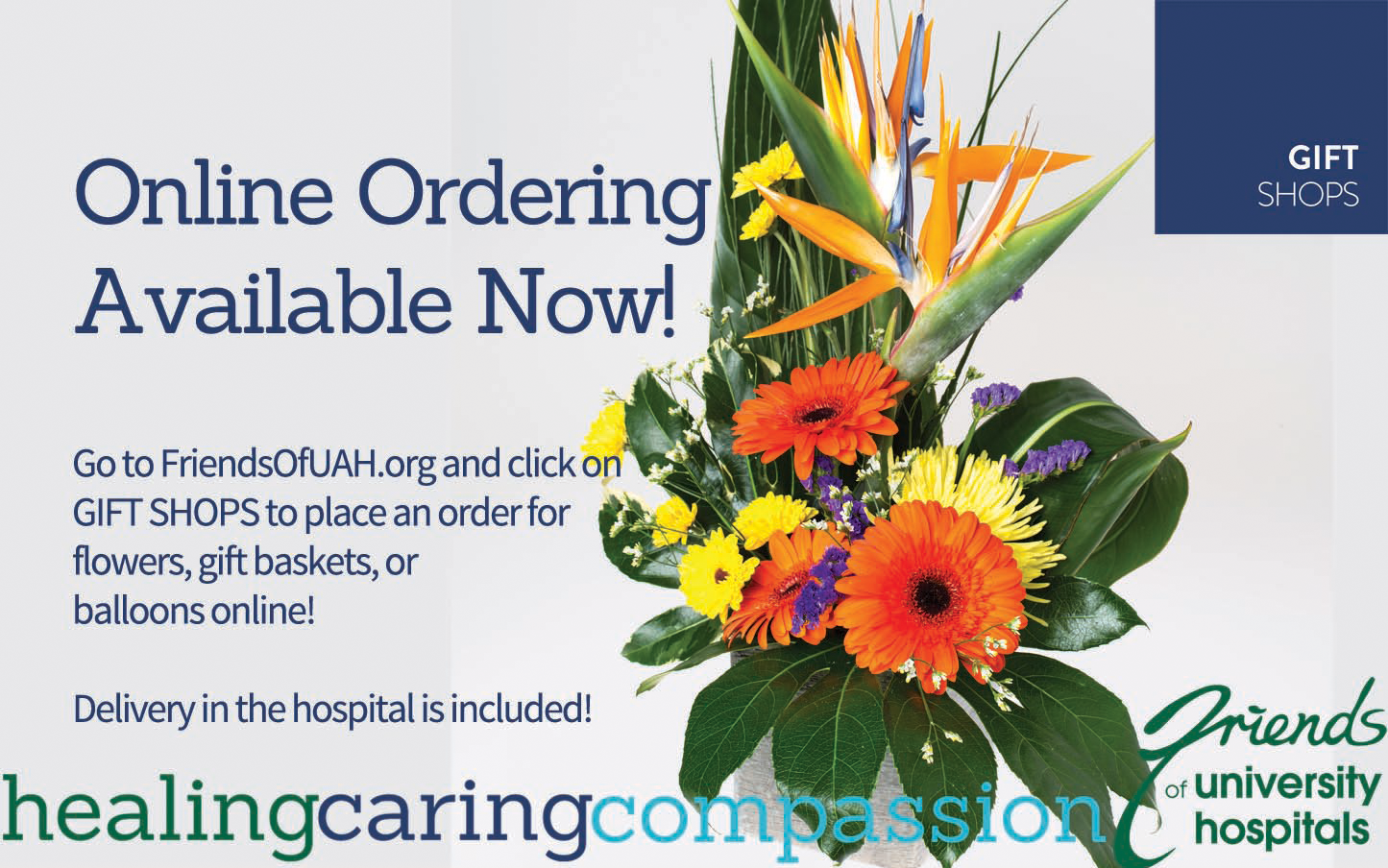 friends gift shop, online orders, flowers, hospital, gifts, balloons