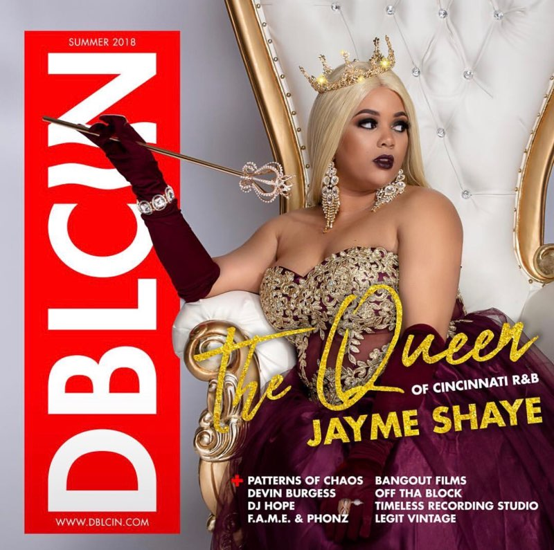 The Queen Of Cincinnati R&B - Jayme Shaye Launches on the cover of DBLCIN Summer 2018 Edition