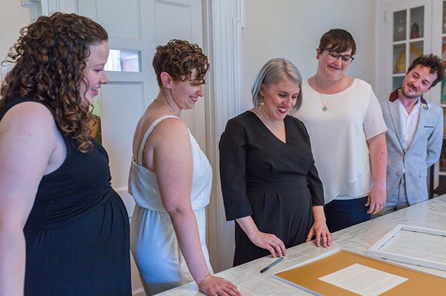 As the officiant of Lori and Jen's wedding, I also got to oversee the signing of their ketubah.