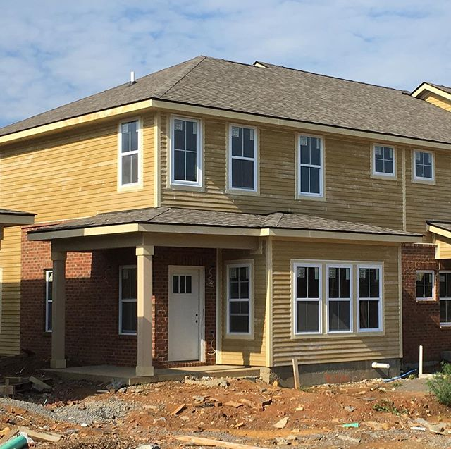 Great to see the progress today on our affordable housing townhome project in LaVergne TN.  1st units of 64 ready in early October #workforcehousing #lavergnetn #aeshdesign