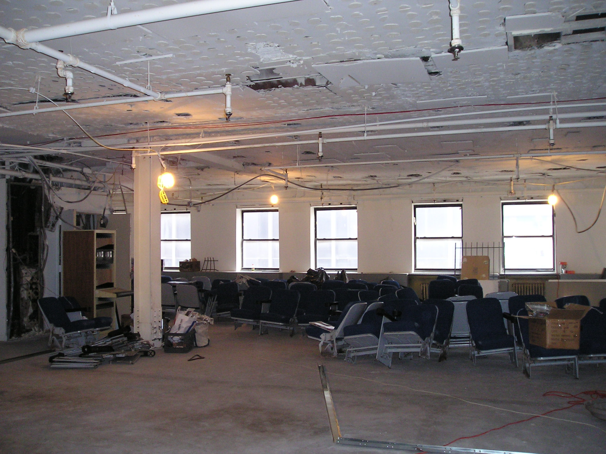 4th Floor Lobby facing 50th St.  - Before