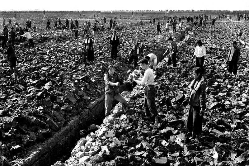 Irrigation ditches and collectivized farms were the essence of communism during the GLF..