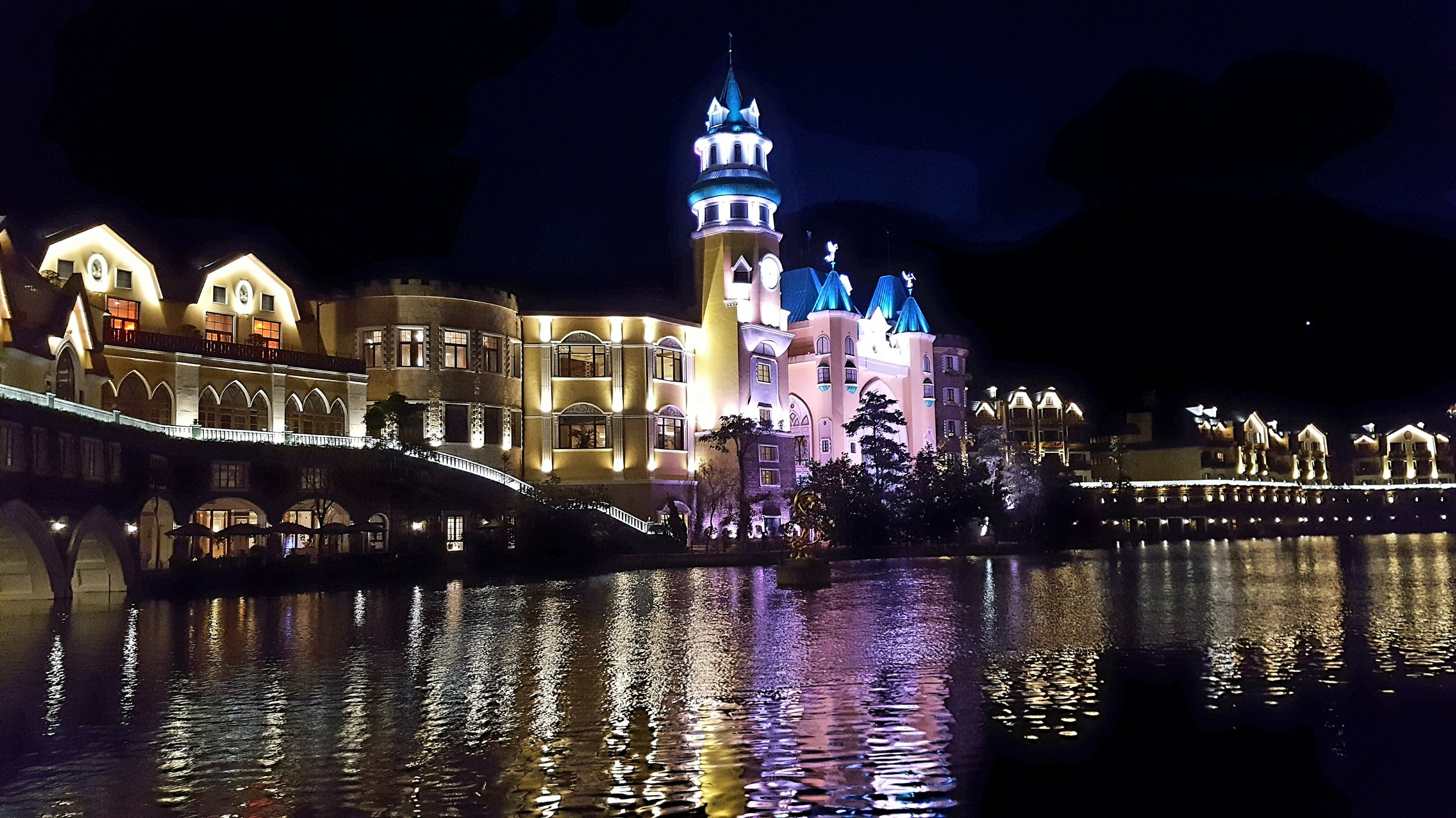 Nighttime in China