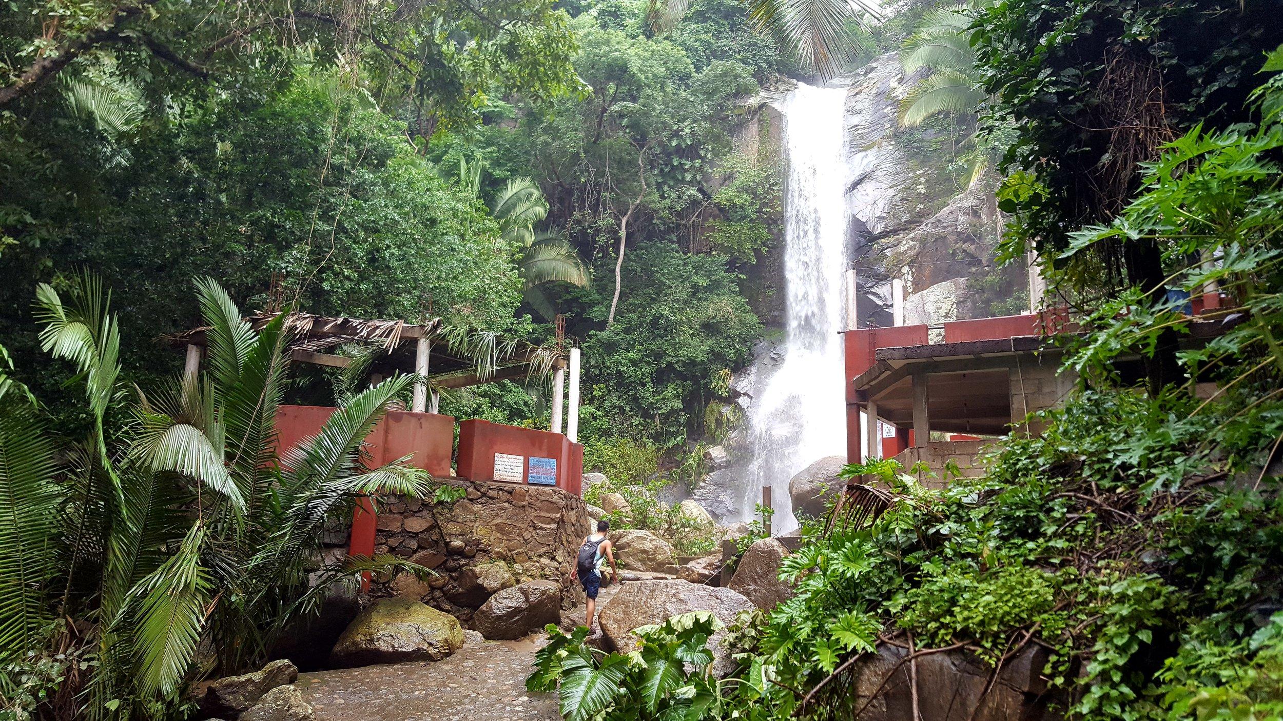 The waterfall in Yelapa towards the end of the rainy season