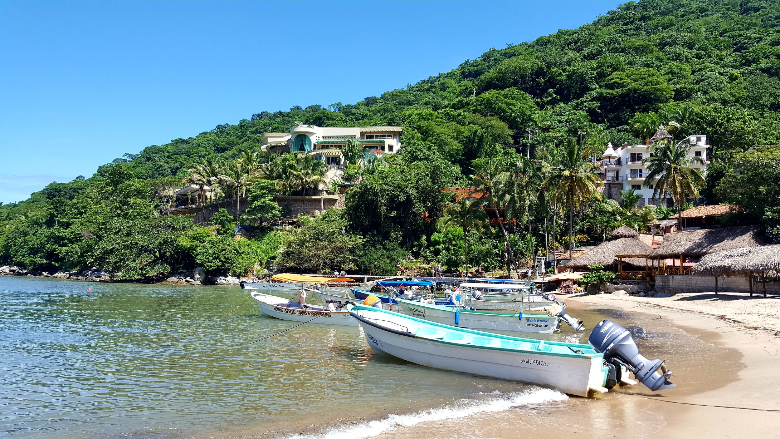 Before hiking in Yelapa, we took a water taxi from Boca de Tomatlan