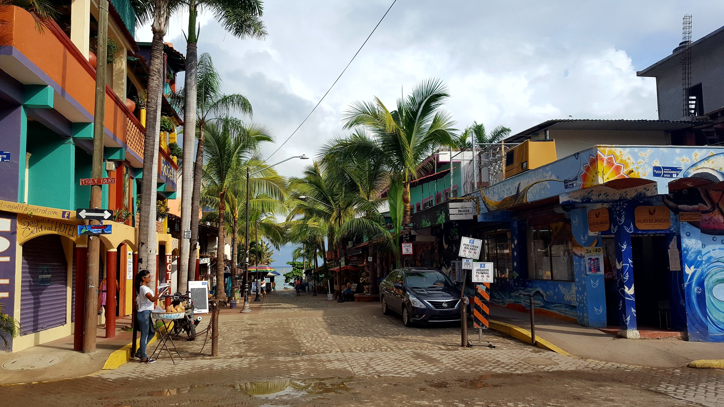Mornings in Sayulita are quieter than usual during the low season
