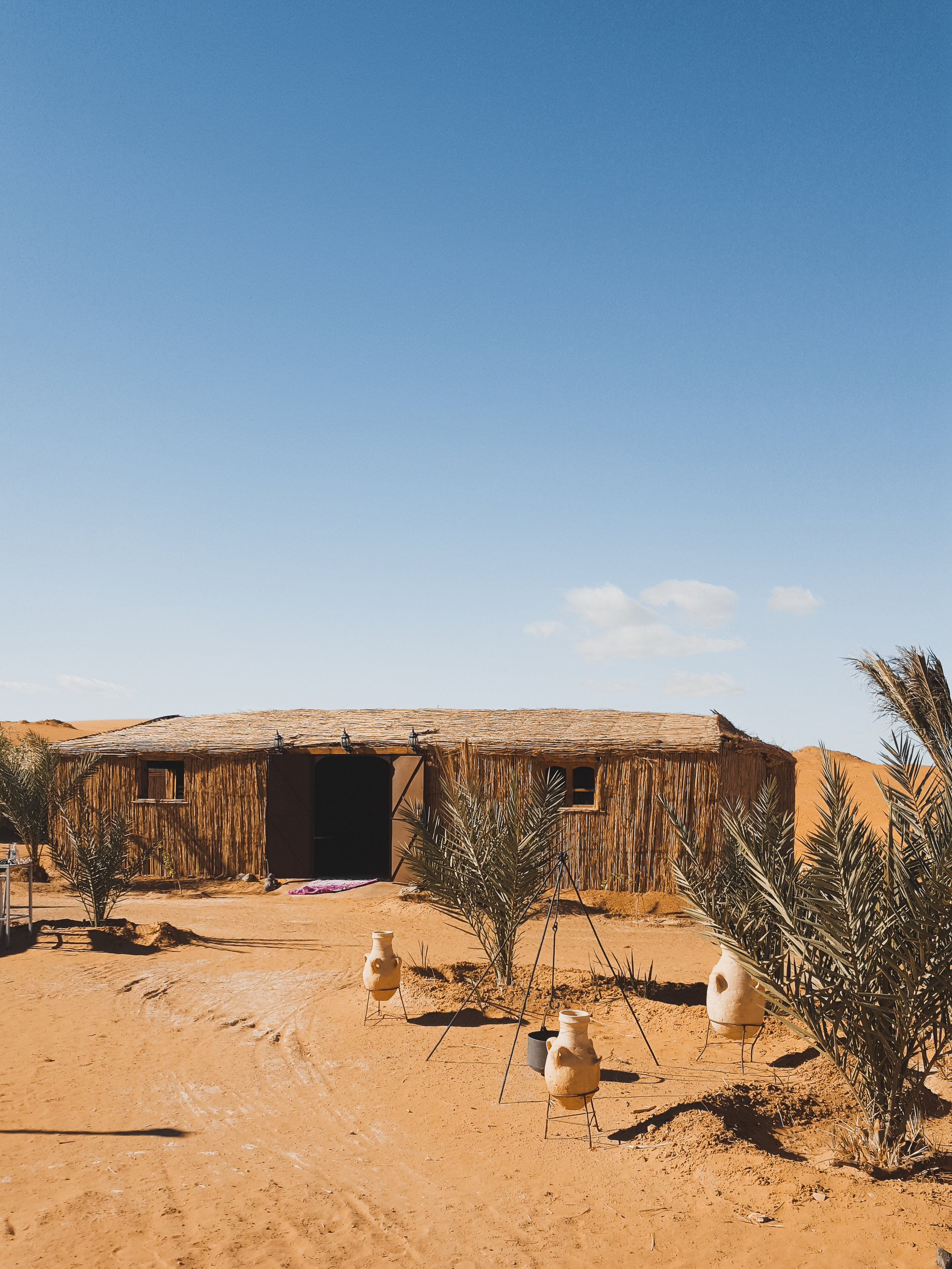 The dining room at our Sahara Desert camp in Merzouga, Morocco