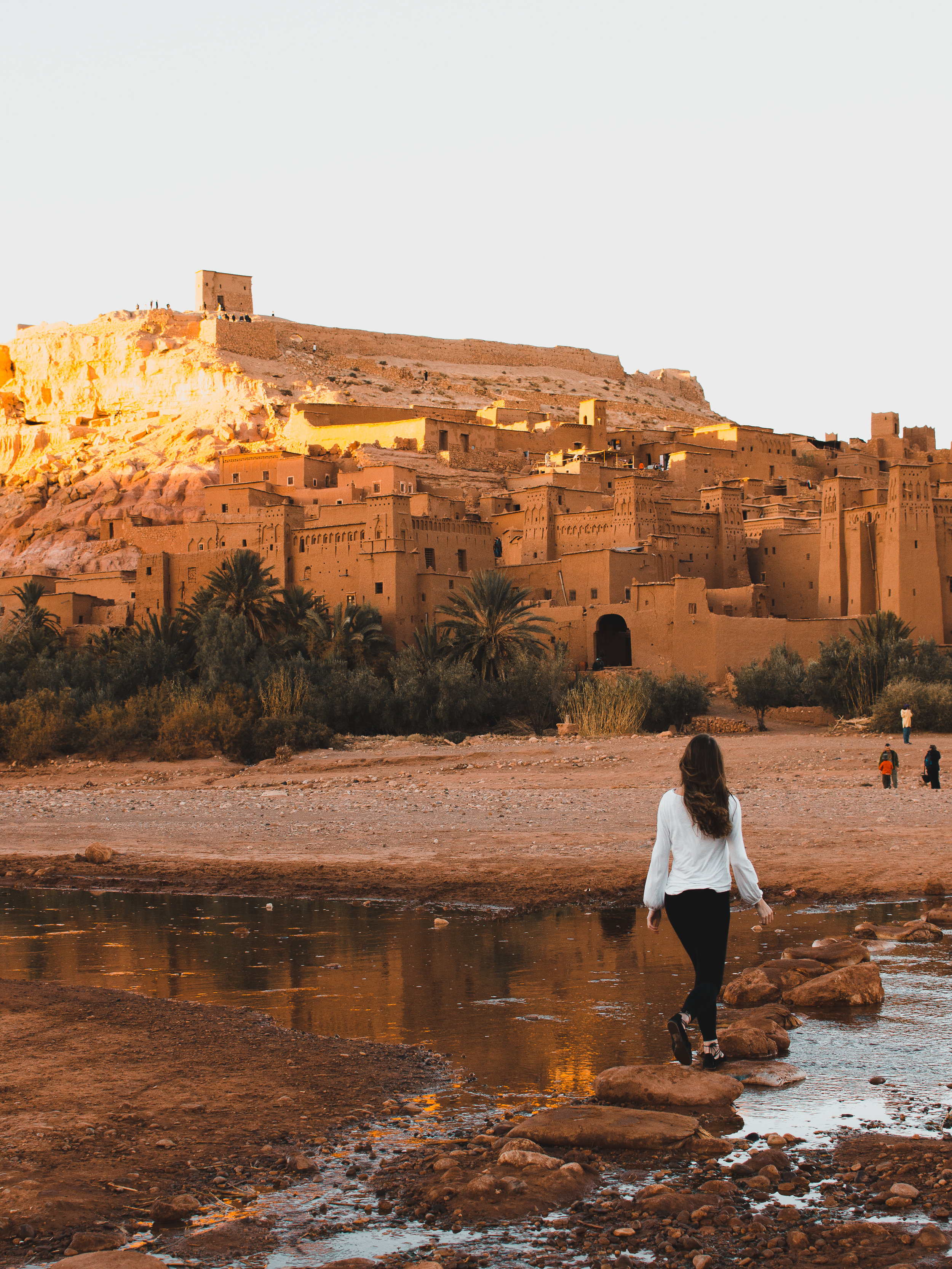 Golden hour at Ait Benhaddou in Morocco