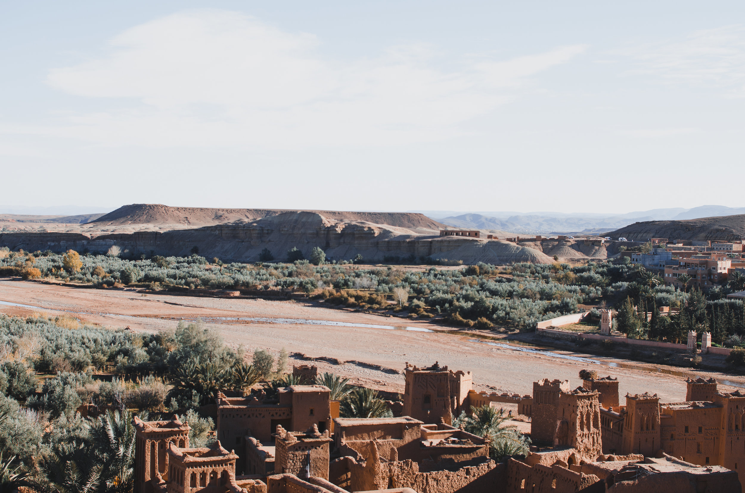 Standing on top of Ait Benhaddou in Morocco