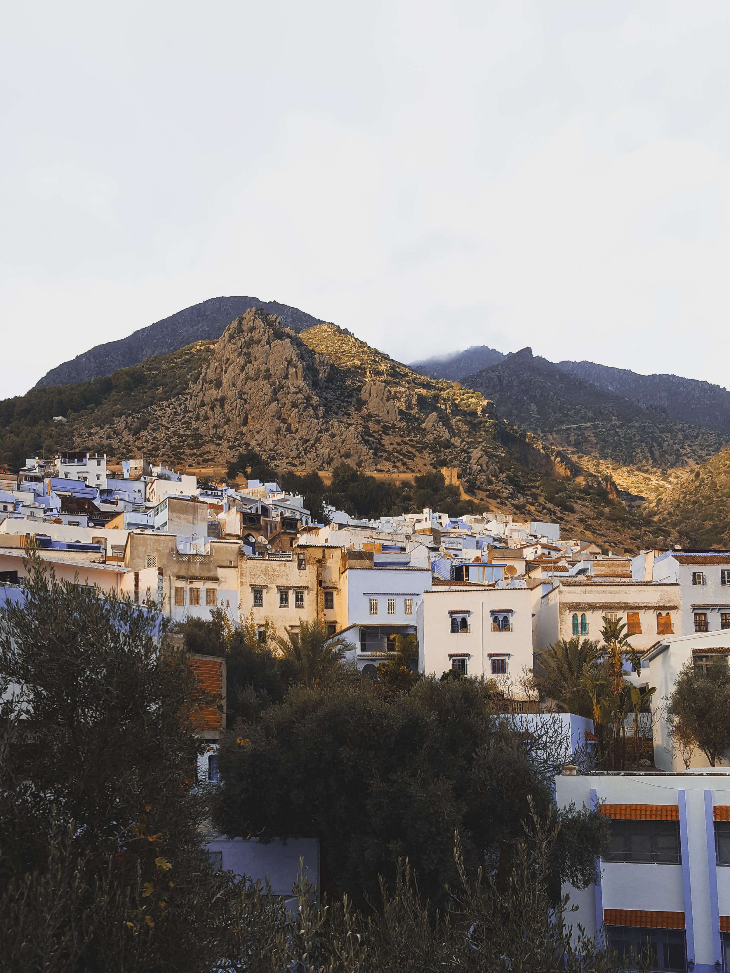 Watching the sun go down in Chefchaouen, Morocco