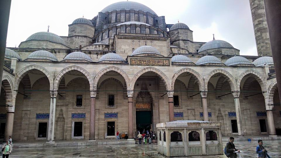 One of the many gorgeous mosques in Istanbul