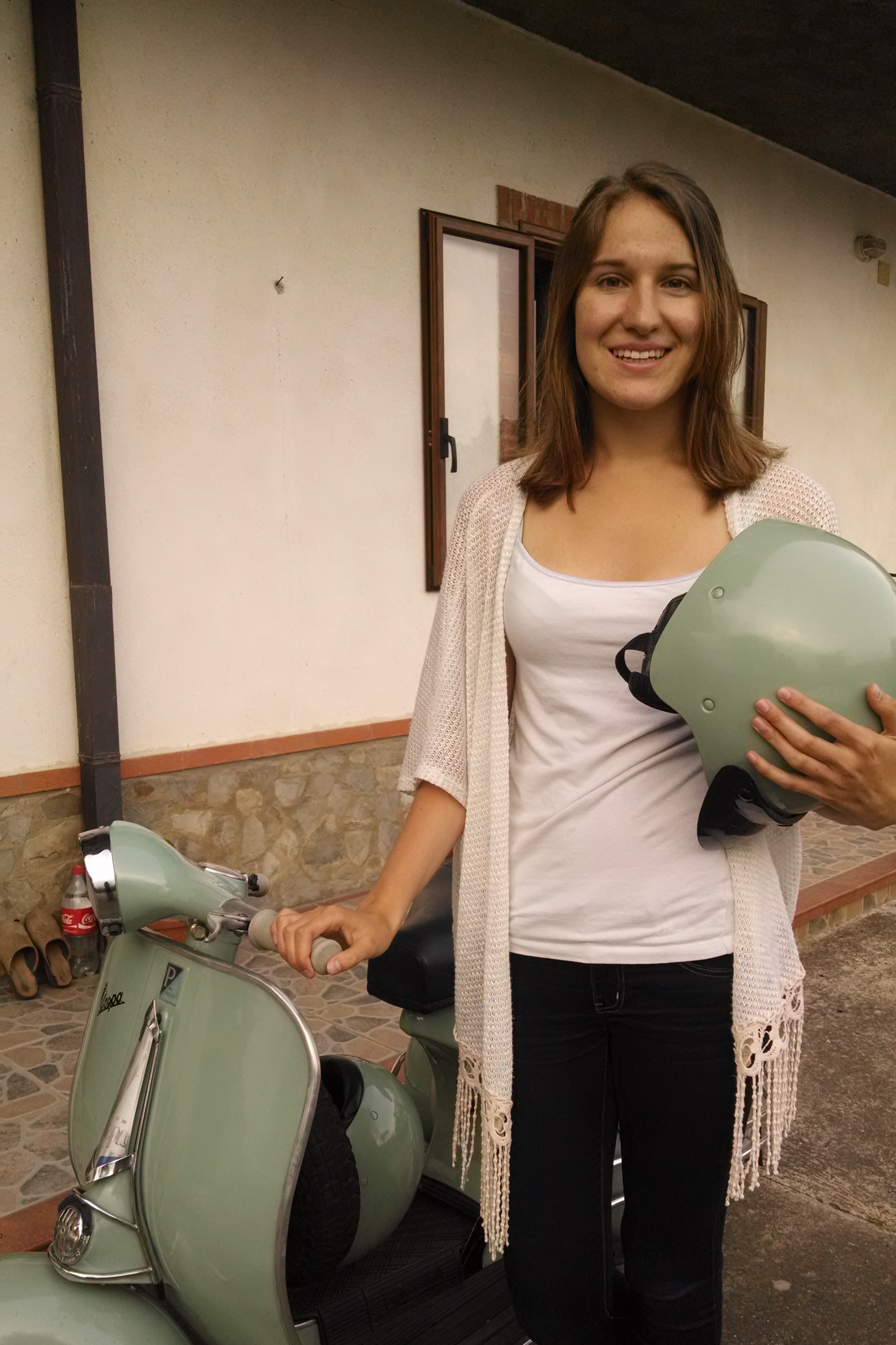 My Italian dreams came true when my host family let me ride their friend's Vespa
