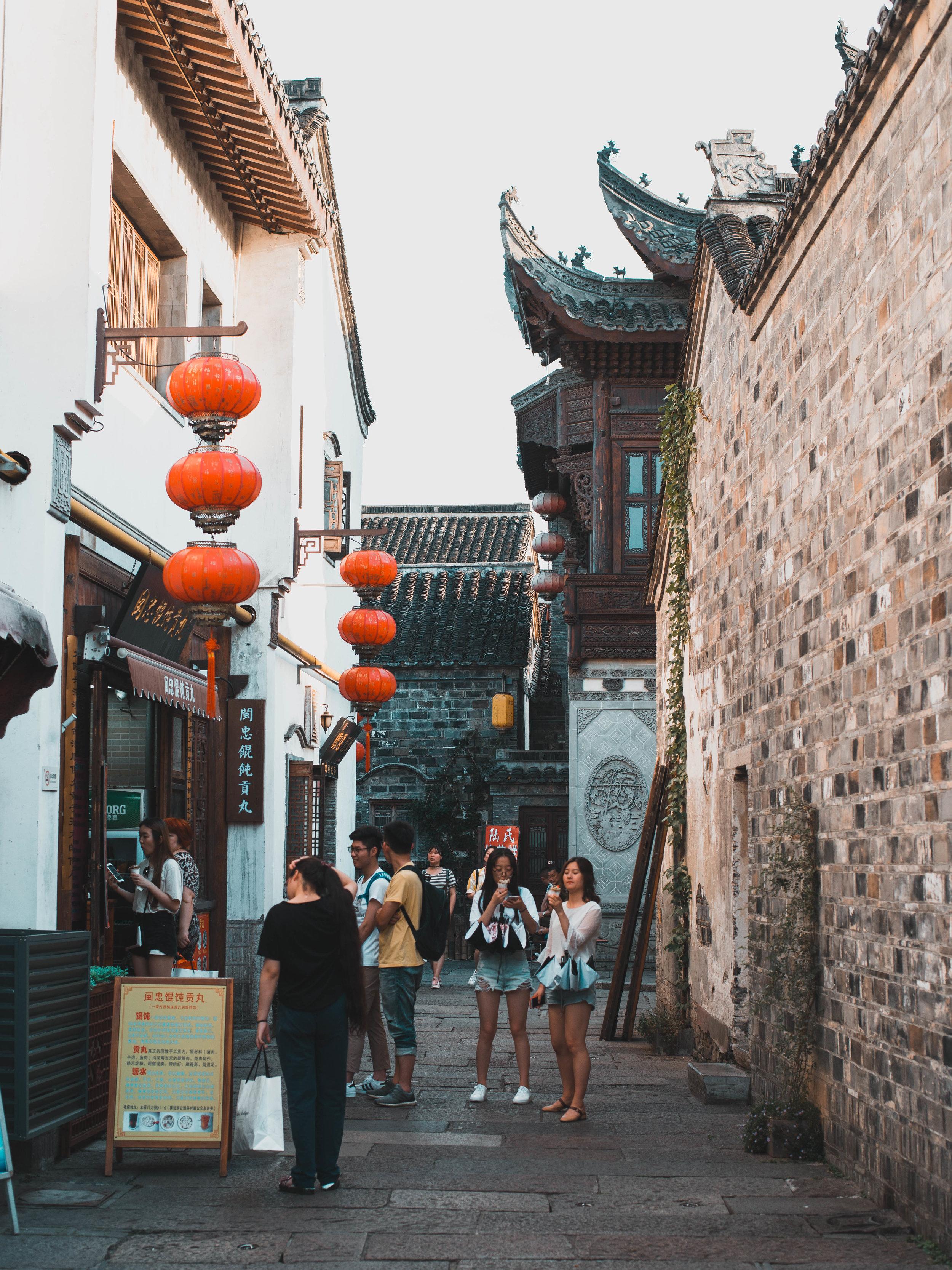 Shopping at the Fuzimiao market in Nanjing