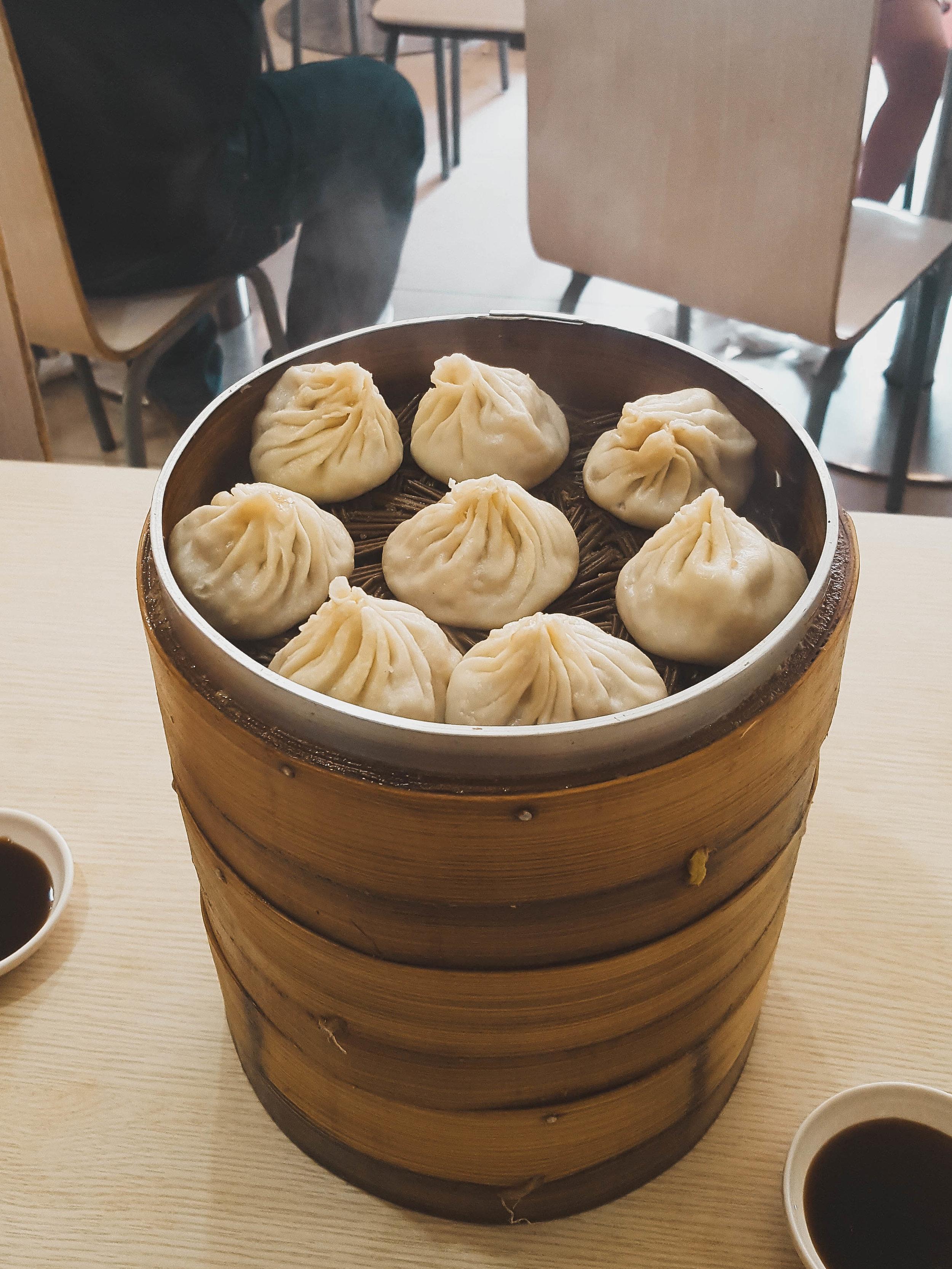 Three baskets of Xiaolongbao for $3 in Nanjing