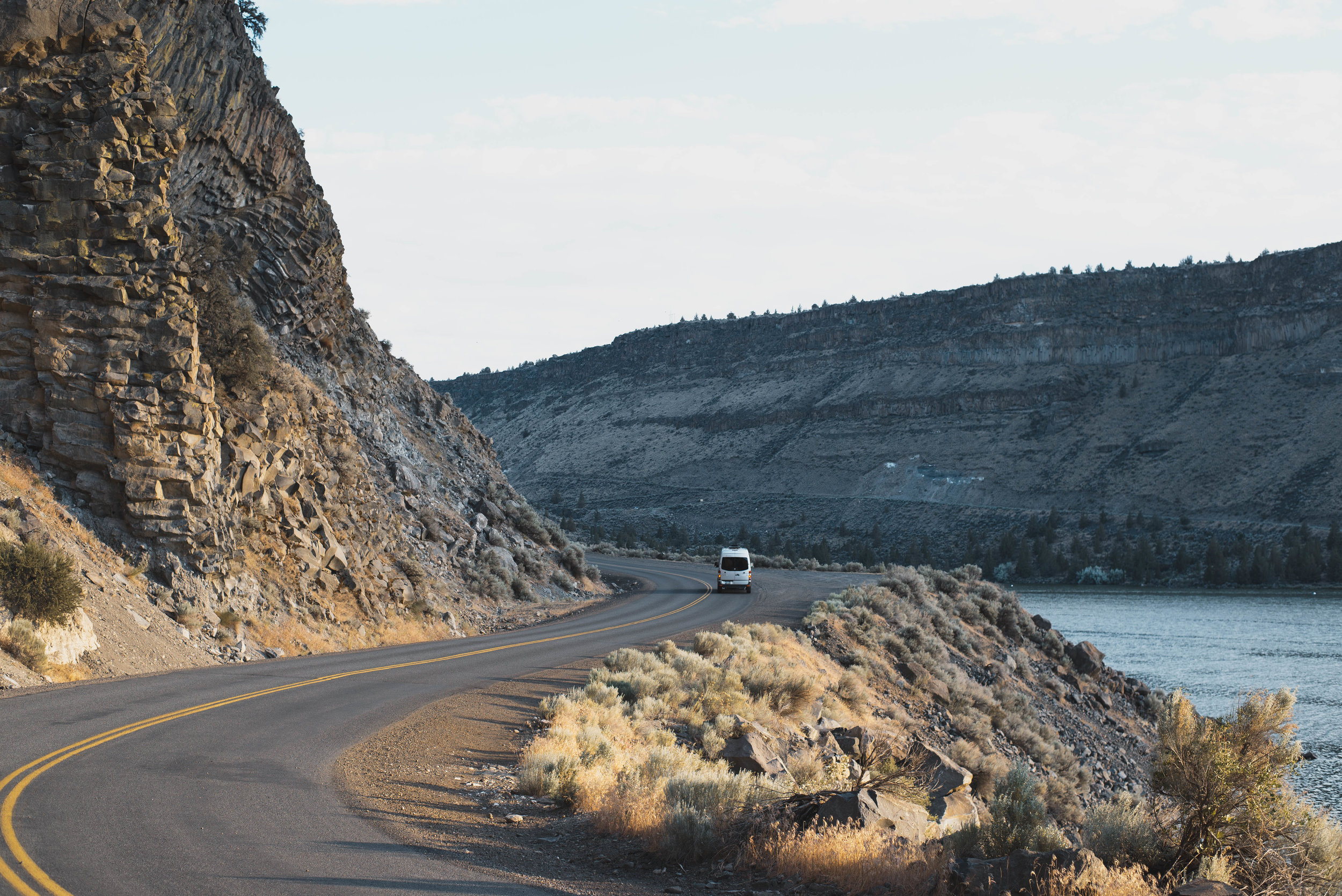 Sunset at The Cove Palisades State Park in Central Oregon