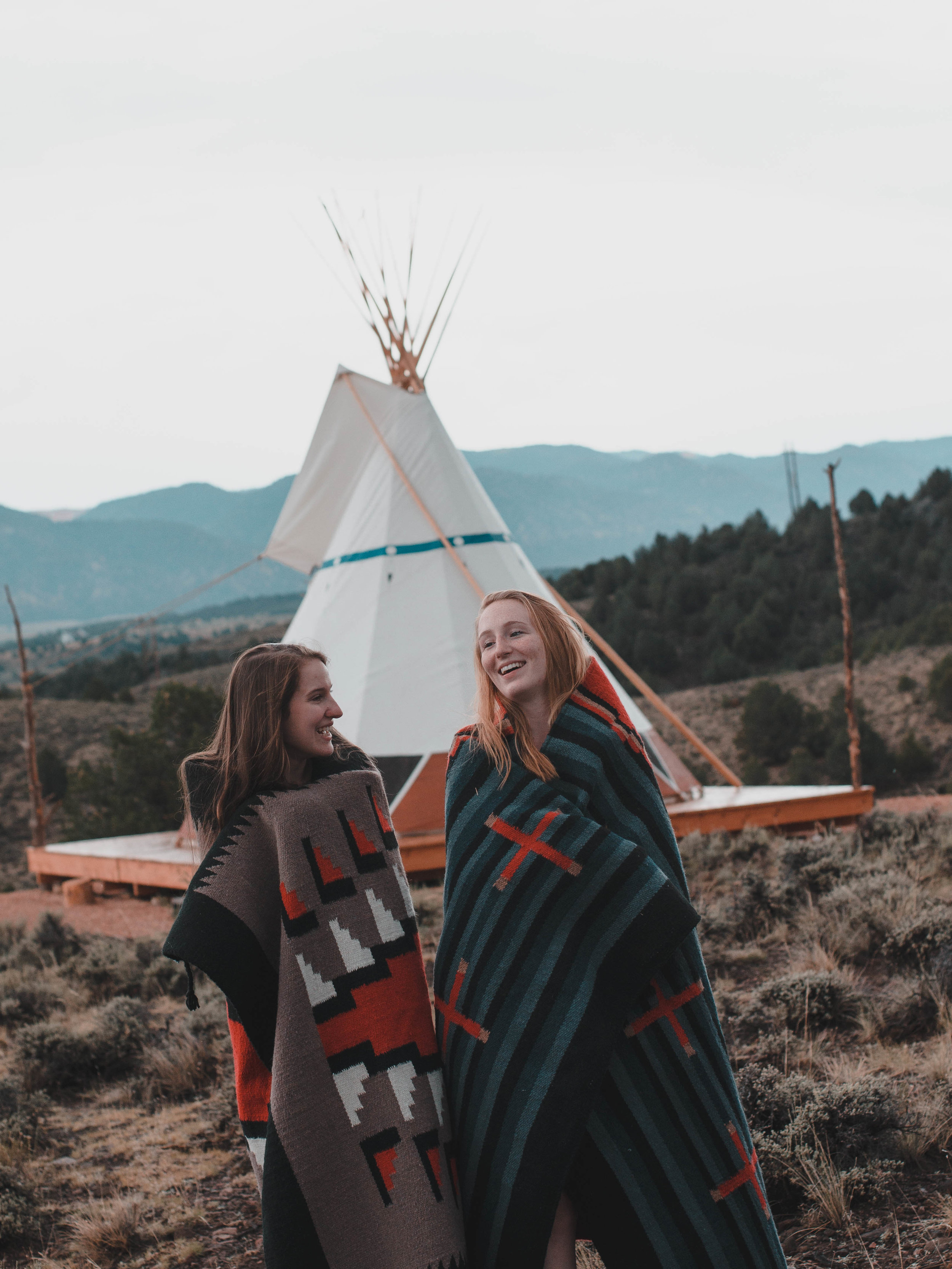 We rented a tipi for two nights near Bryce Canyon