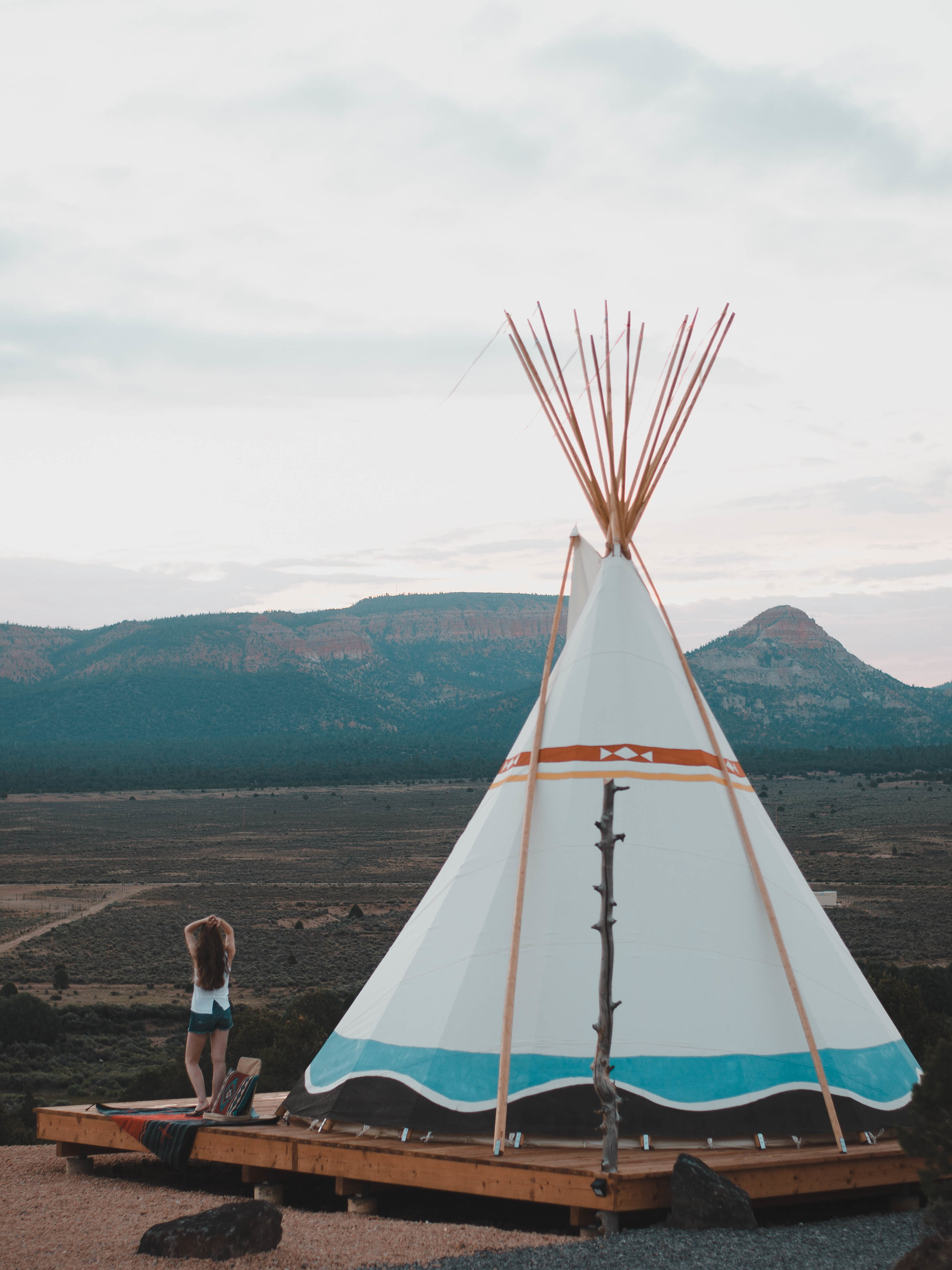 Experience tipi camping when you visit Bryce Canyon