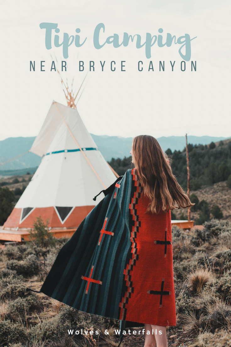 Our stay at a luxury tipi near Bryce Canyon, Utah