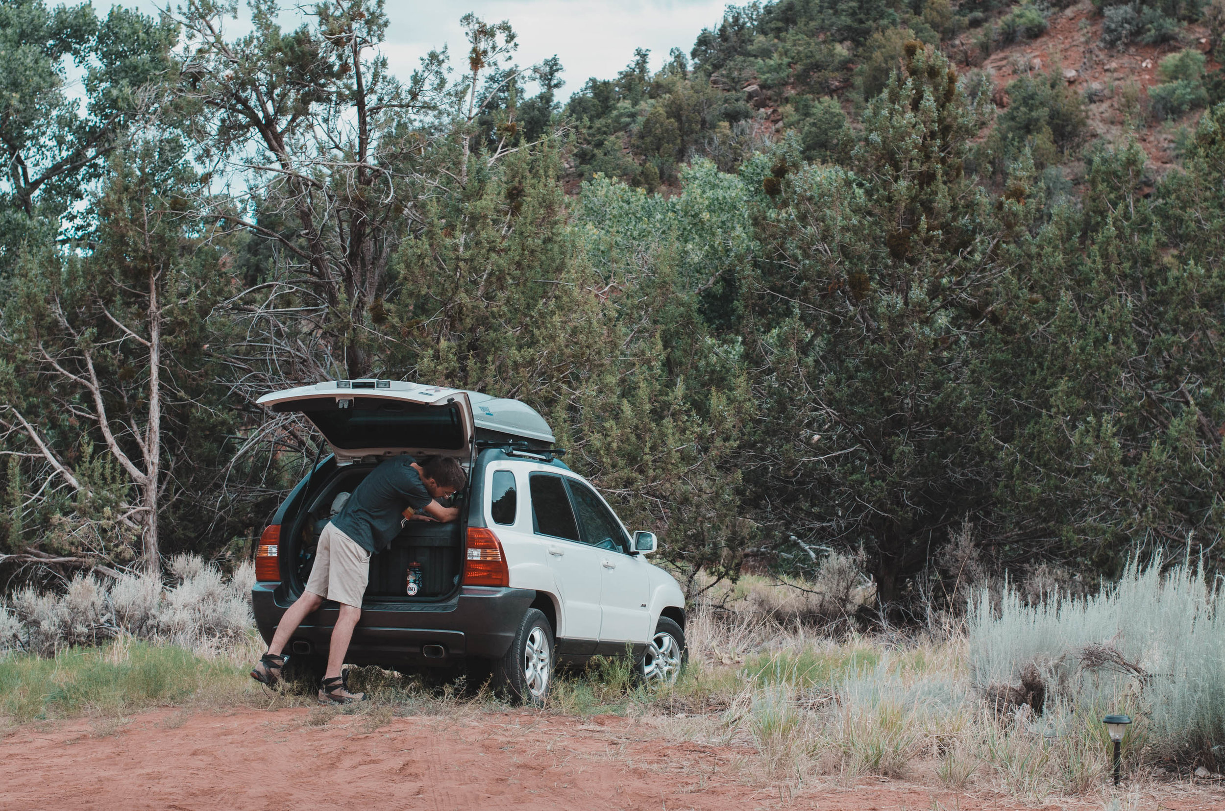 We got to park right outside our glamping tent in Utah
