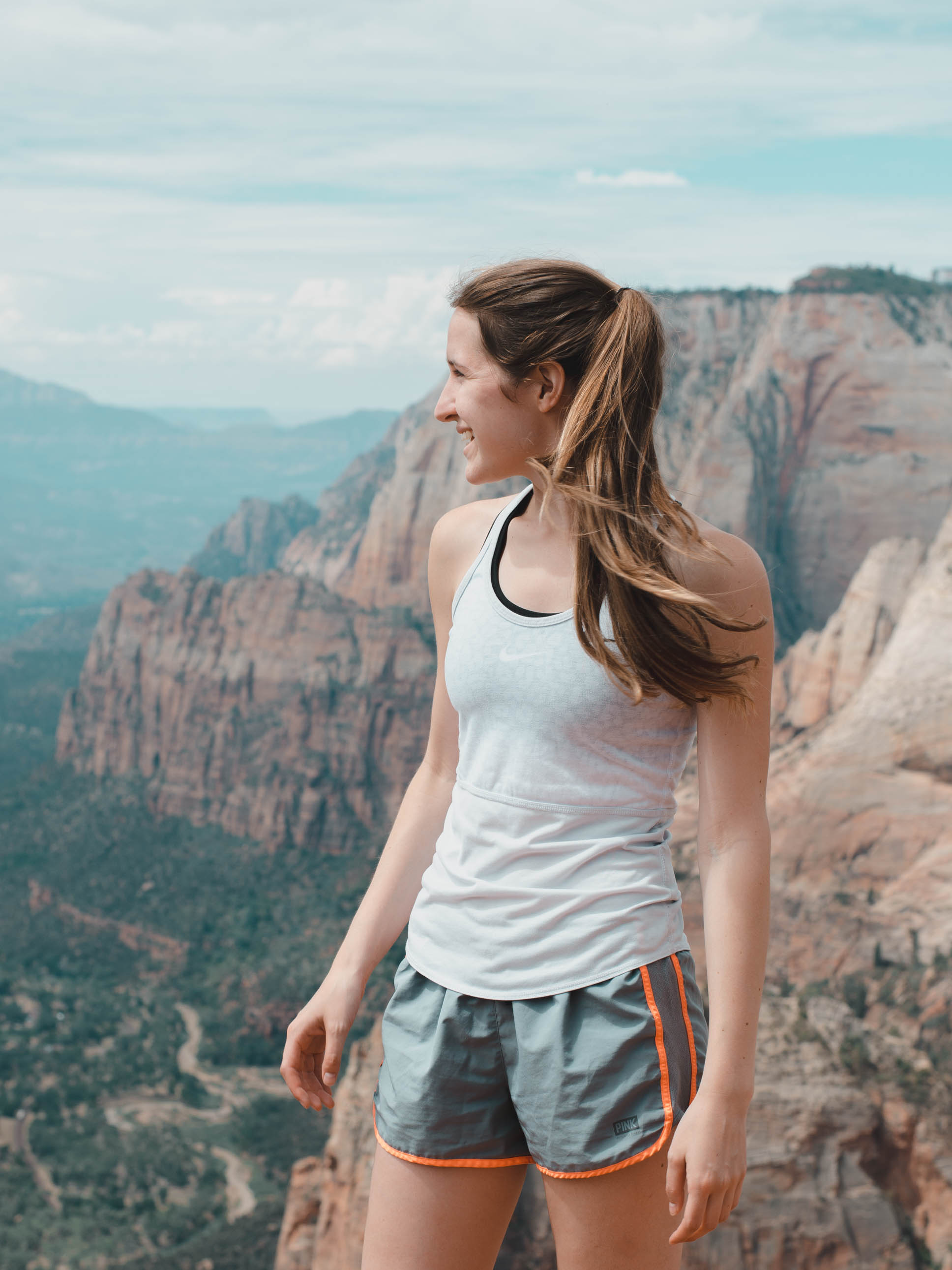 Standing on the top of Observation Point in Zion