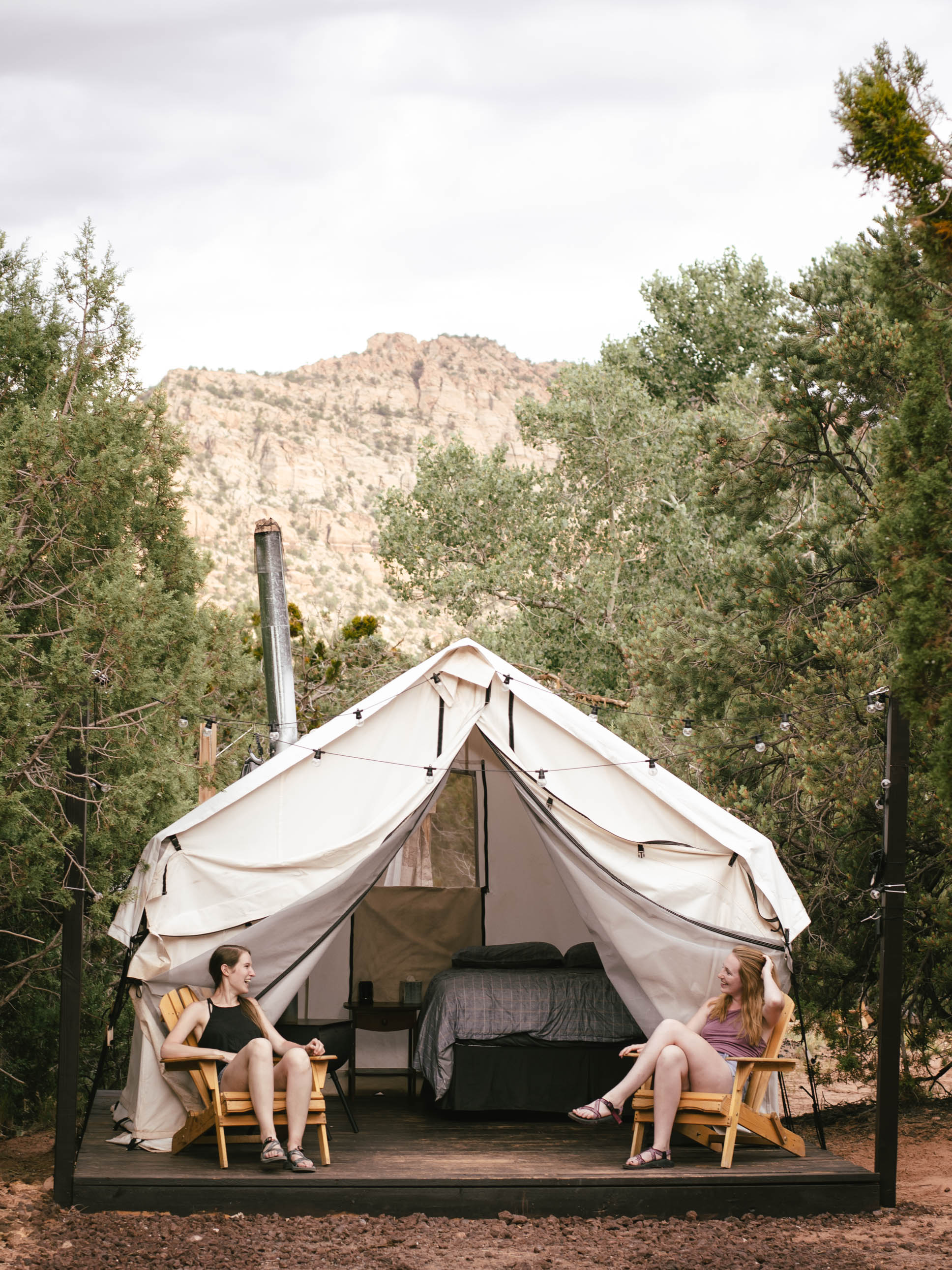 We made sure to include glamping on our Utah road trip itinerary