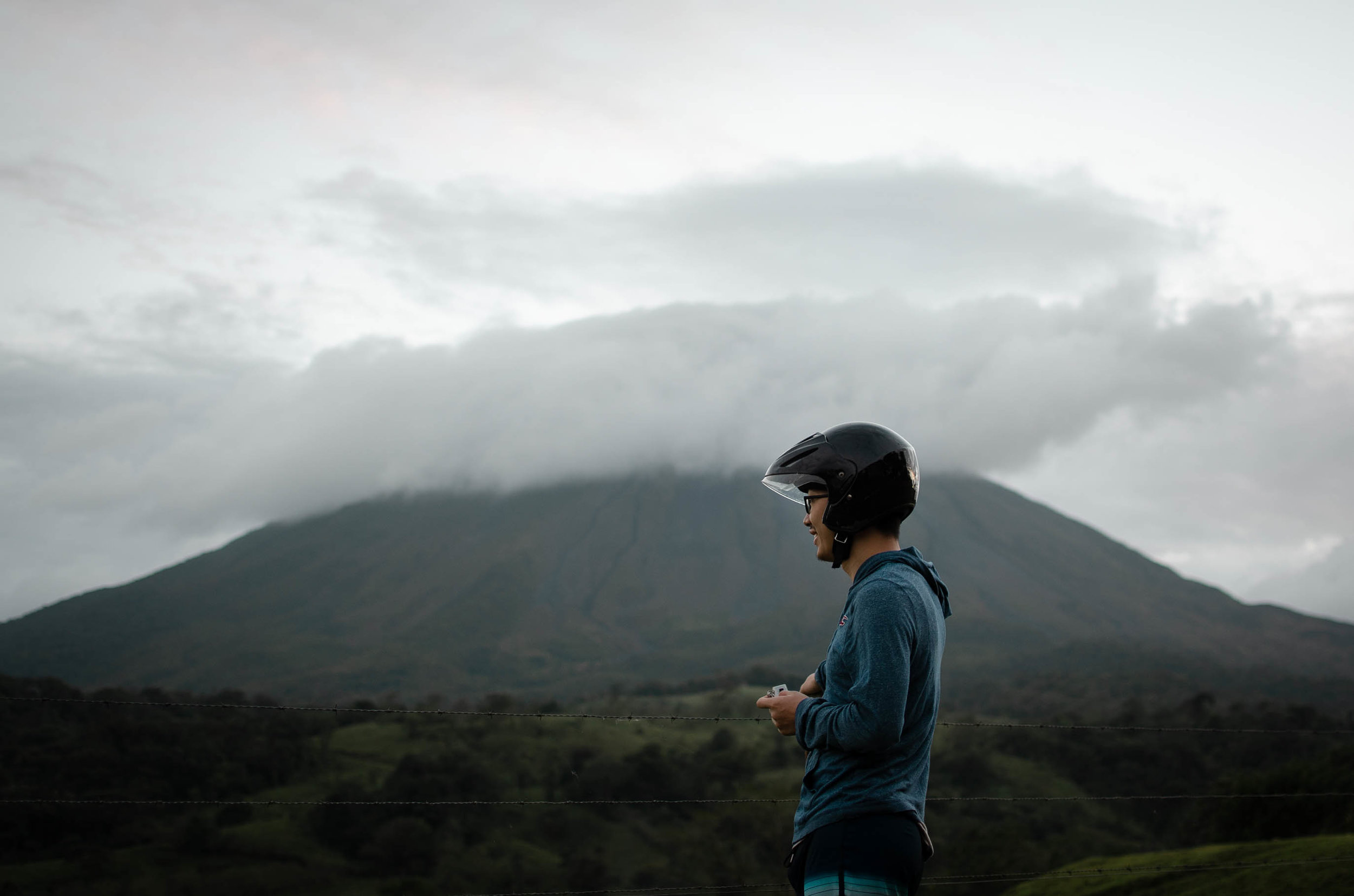Rode a scooter to look at Arenal Volcano in La Fortuna