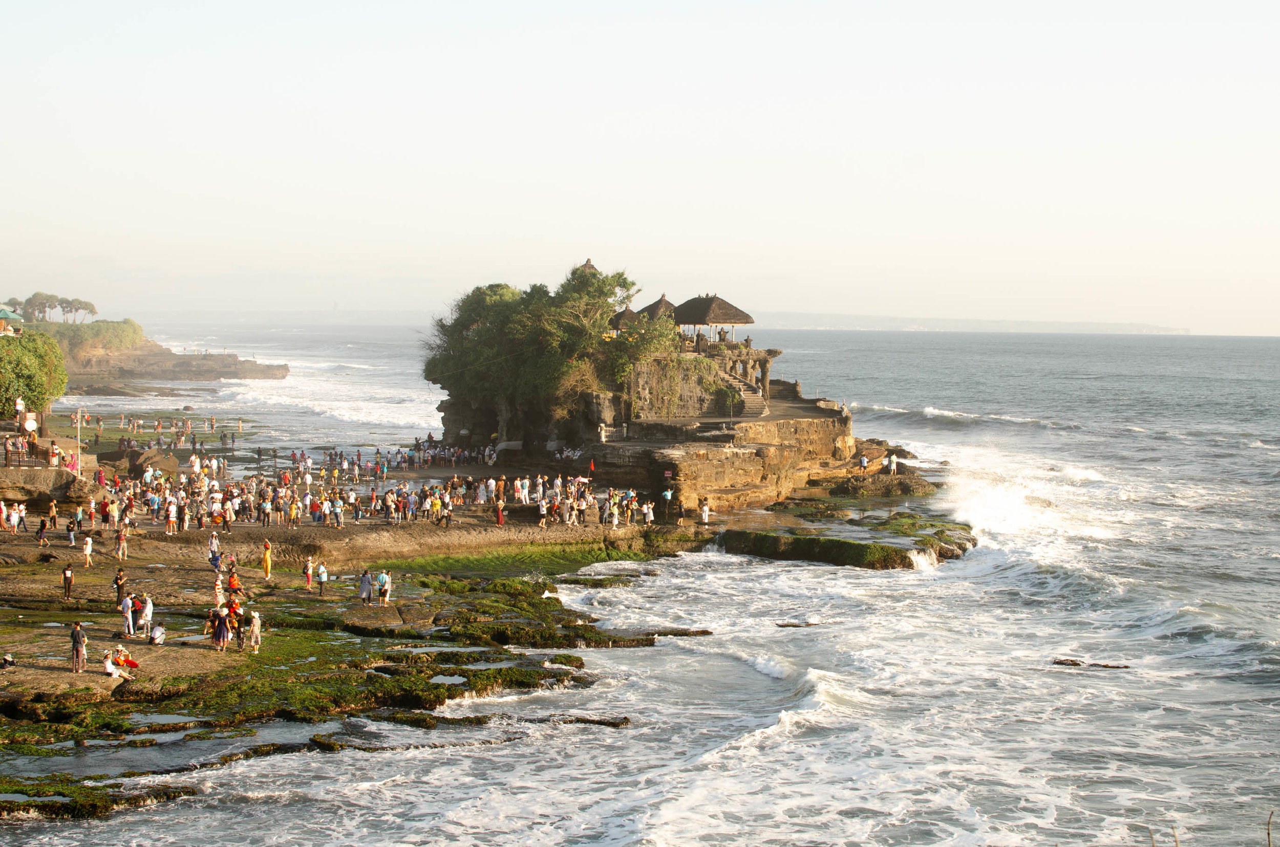 It's hard to get a picture of Tanah Lot without tourists in it