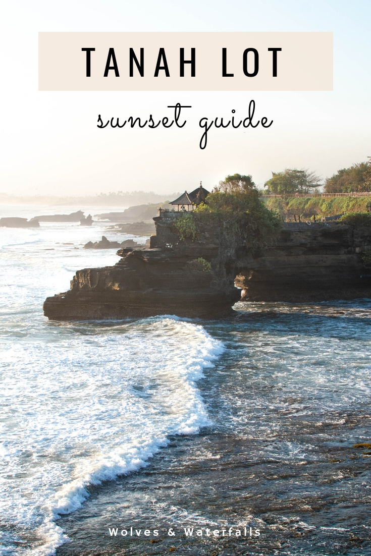 Sunset at Tanah Lot Temple in Canggu, Bali