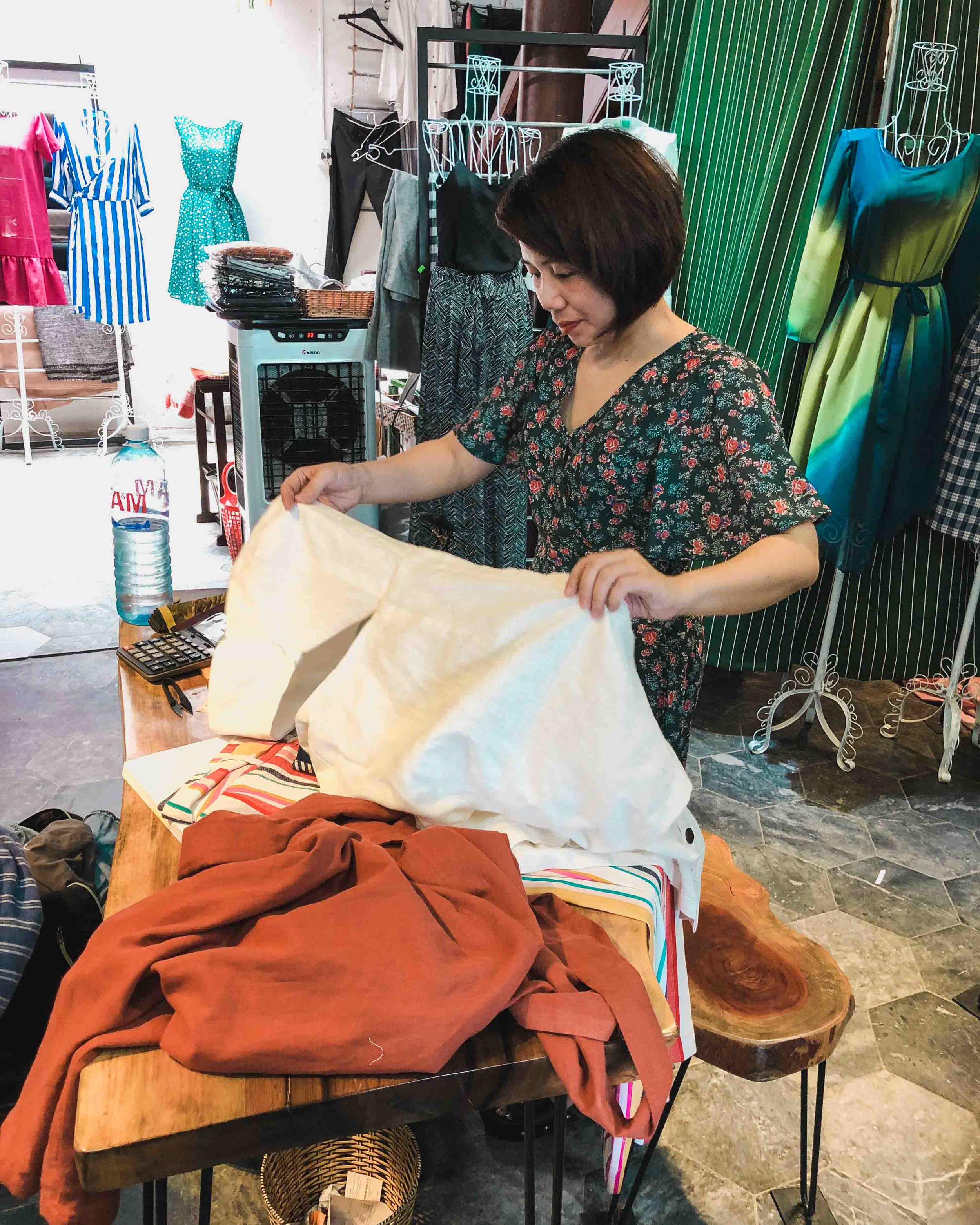 Getting clothes tailored in Hoi An