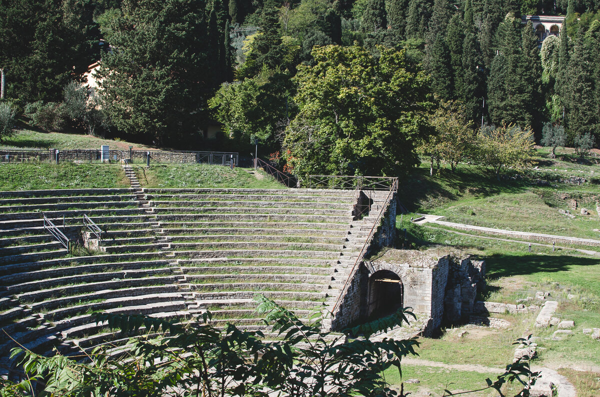 Roman theater in Fiesole near Florence