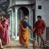 Masaccio – The Tribute Money c.1426-27 Fresco, The Brancacci Chapel, Florence