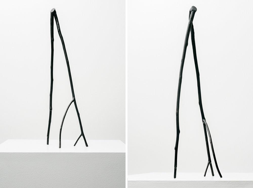 Stick #02, 2019, Bronze with black patina, 17x6x4.5in