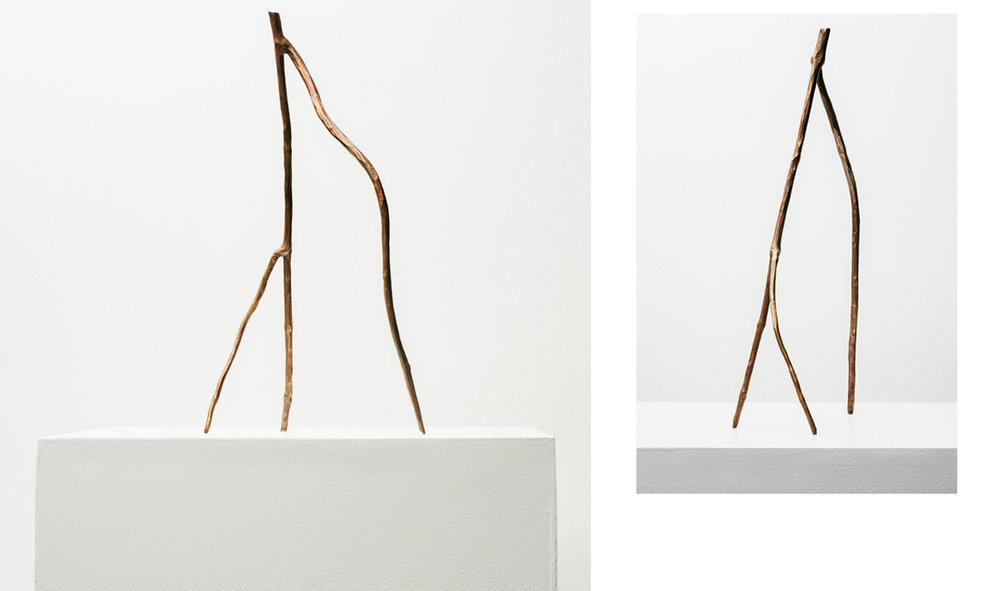 Stick #03, 2019, Bronze with copper patina, 14.5x8.4.5in