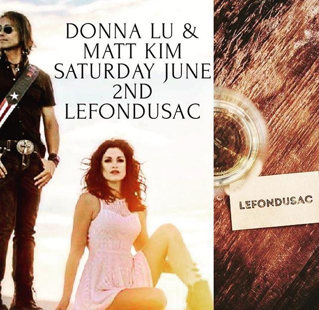 Join us June 2nd for Donna Lu & Matt Kim! @lefondusac #lefondusac #winesontap #livefreemusic #tincity #tincitypaso #centralcoast #pasowine #travelpaso #bigbigslo #slomusicvibes #goodtimes #goodtimeswithgoodpeople #keepitlocal #bigbigslo