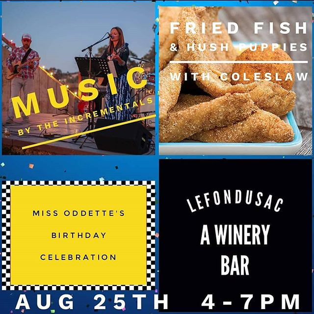 Join us today for live music and great food. See you this afternoon.  Good times. #lefondusac #miss #oddette #incrementals #wine #food # goodtimes #tincity #pasowine  #jp3wines #creole #homecooking #albarino #tempranillo #redwine