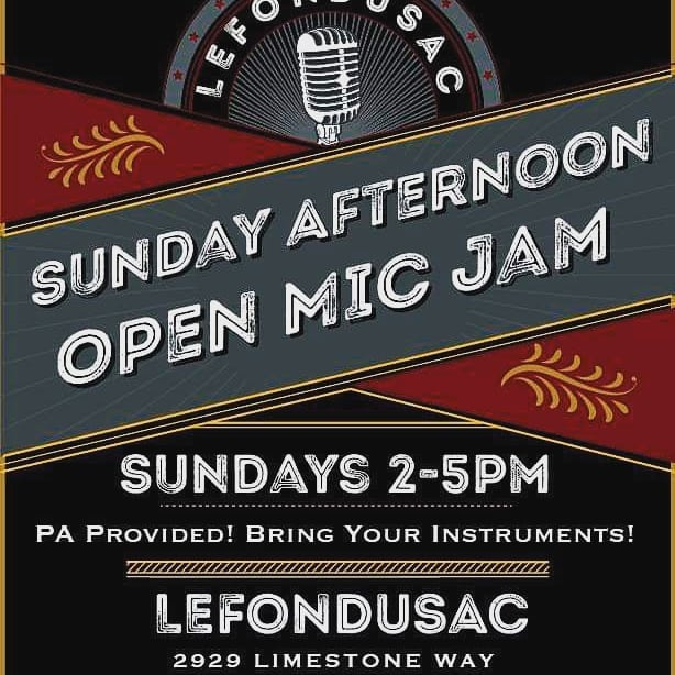 See you this afternoon down at the sac.  #lefondusac #music #livemusic #guitar #drums #redwine #tincity #jp3wines #albarino #tempranillo #pasowine
