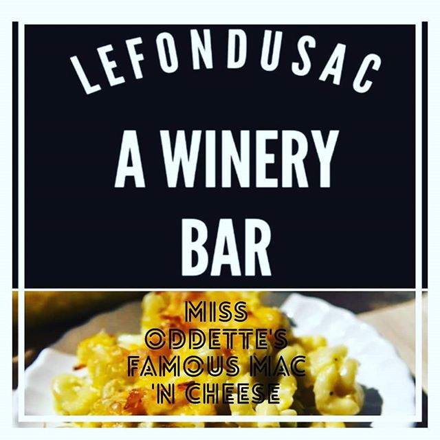 happy wine fest weekend.  Come on down to the sac for wine, music,  good times and yes,  miss oddette 's mac n cheese. Mention this post for a $5 glass of wine. 🍷🍷🎶🎶🎶 #lefondusac #tincity #missoddette #pasowine #livemusic #wineontap #jp3wines #macncheese #redwine #guitar #goodtimes #pasorobles