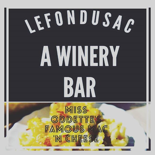 Happy wine fest weekend.  See you today for good times,  great wine,  awesome music and YES,  MISS ODDETTE and her mac n cheese. $5 glasses of wine if u mention this post.  #lefondusac #missoddette #tincity #pasowine #pasorobles #livemusic #guitar #
