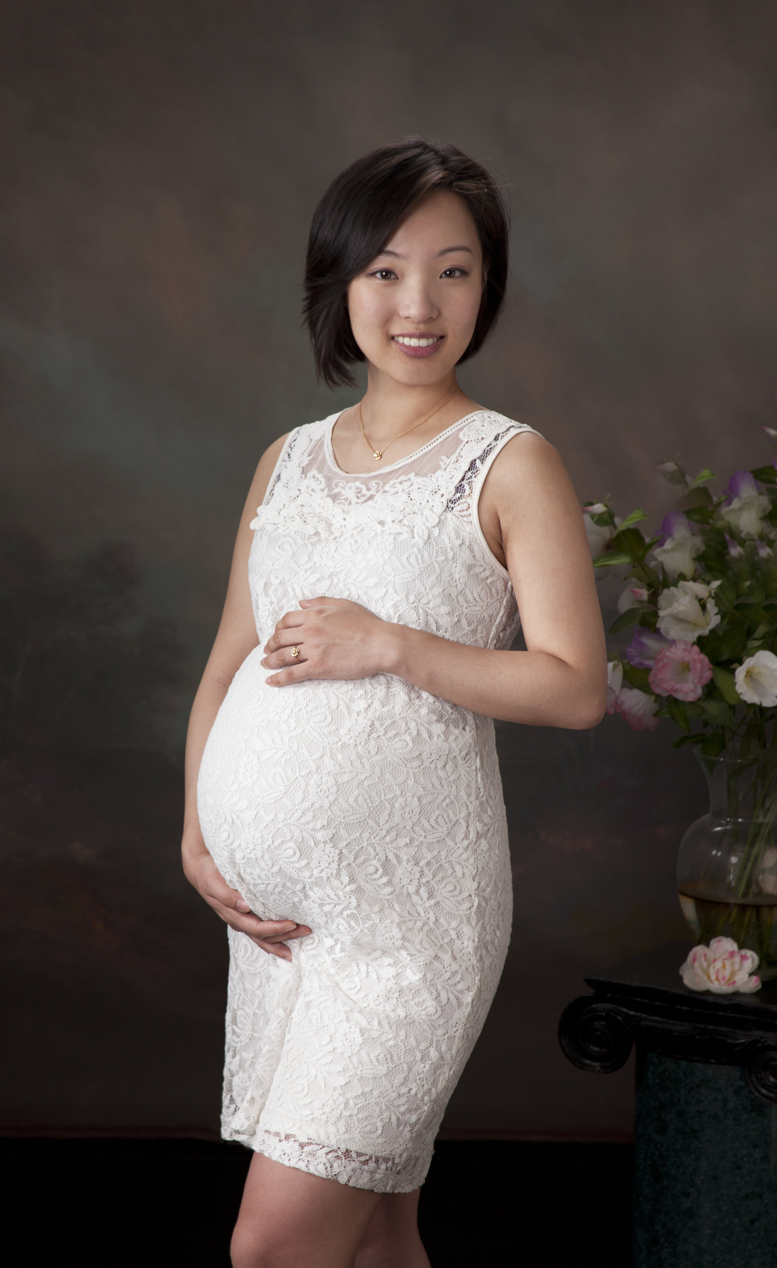 maternity white dress