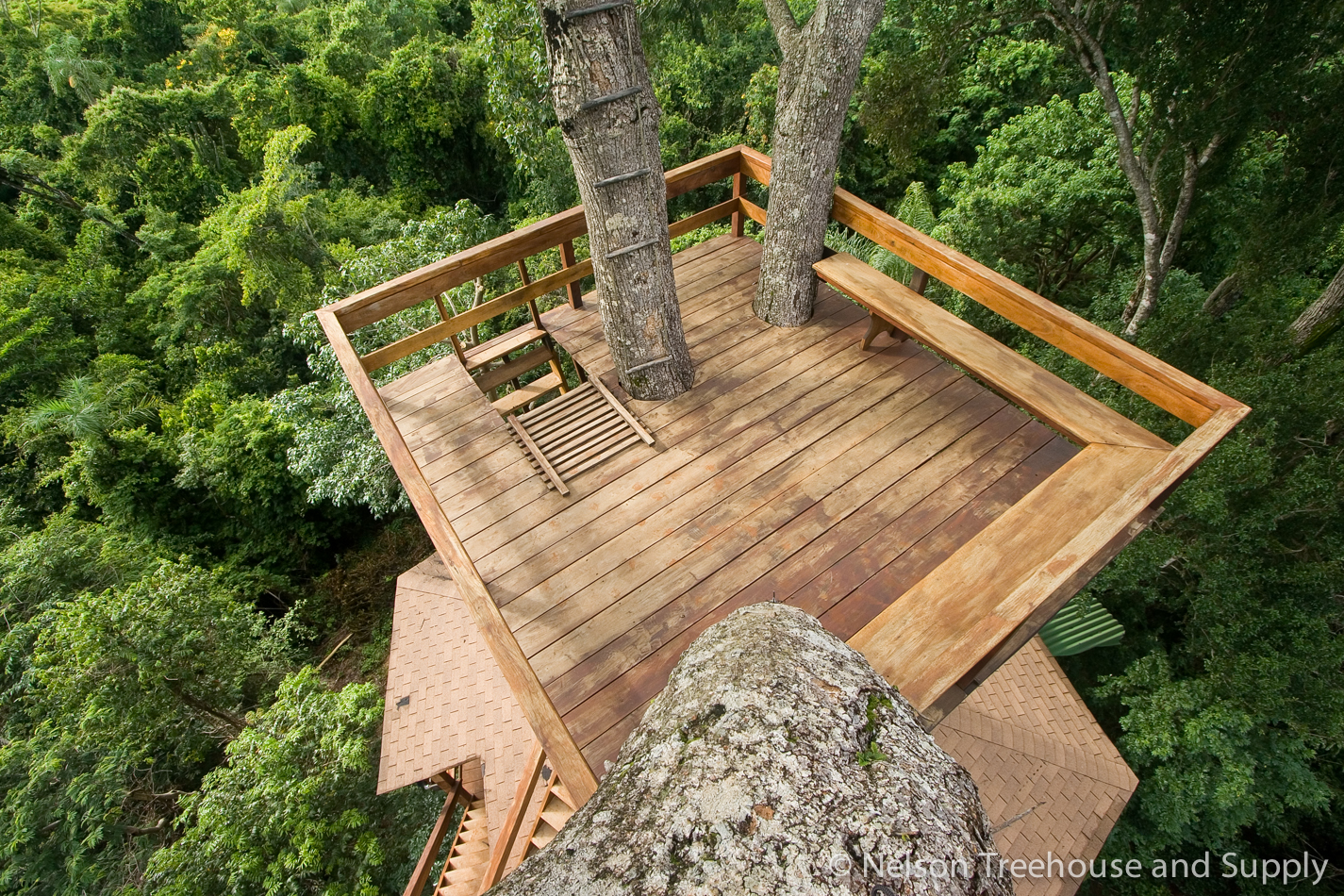 Sometimes simplICity is best when it comes to treehouses, like this treehouse deck platform in Brazil.