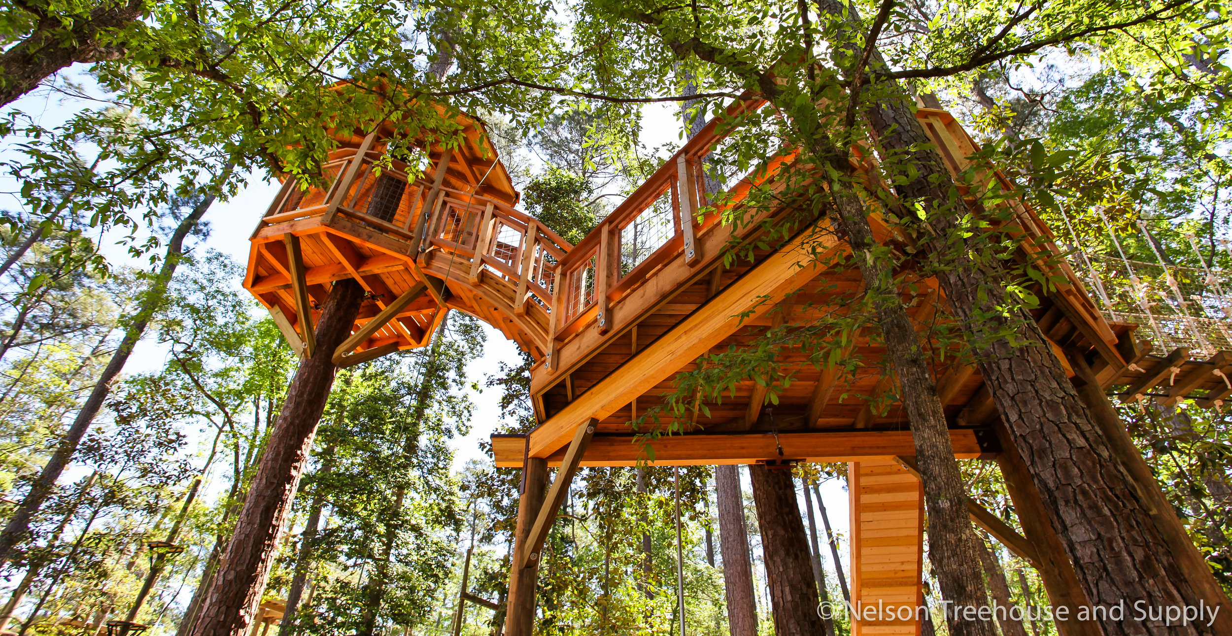 Daryl recently worked on this adventurous treehouse for Camp Cho-Yeh.