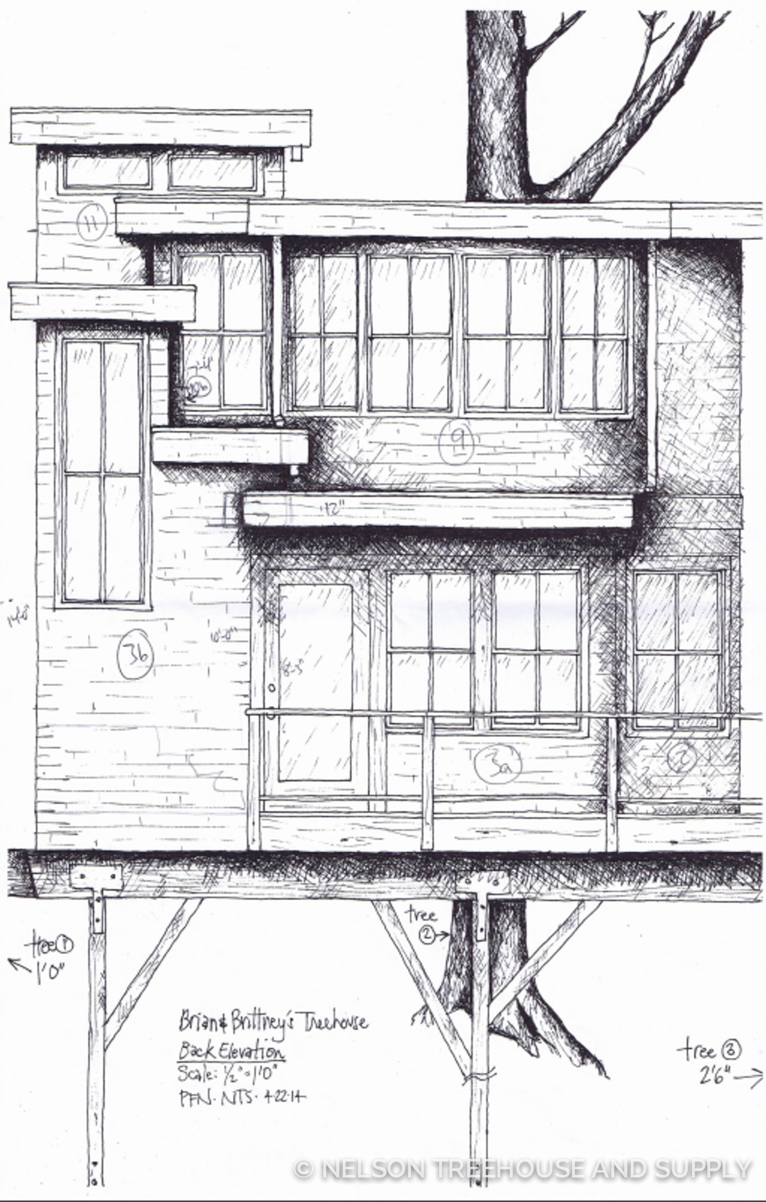 Step 2 of Treehouse Design