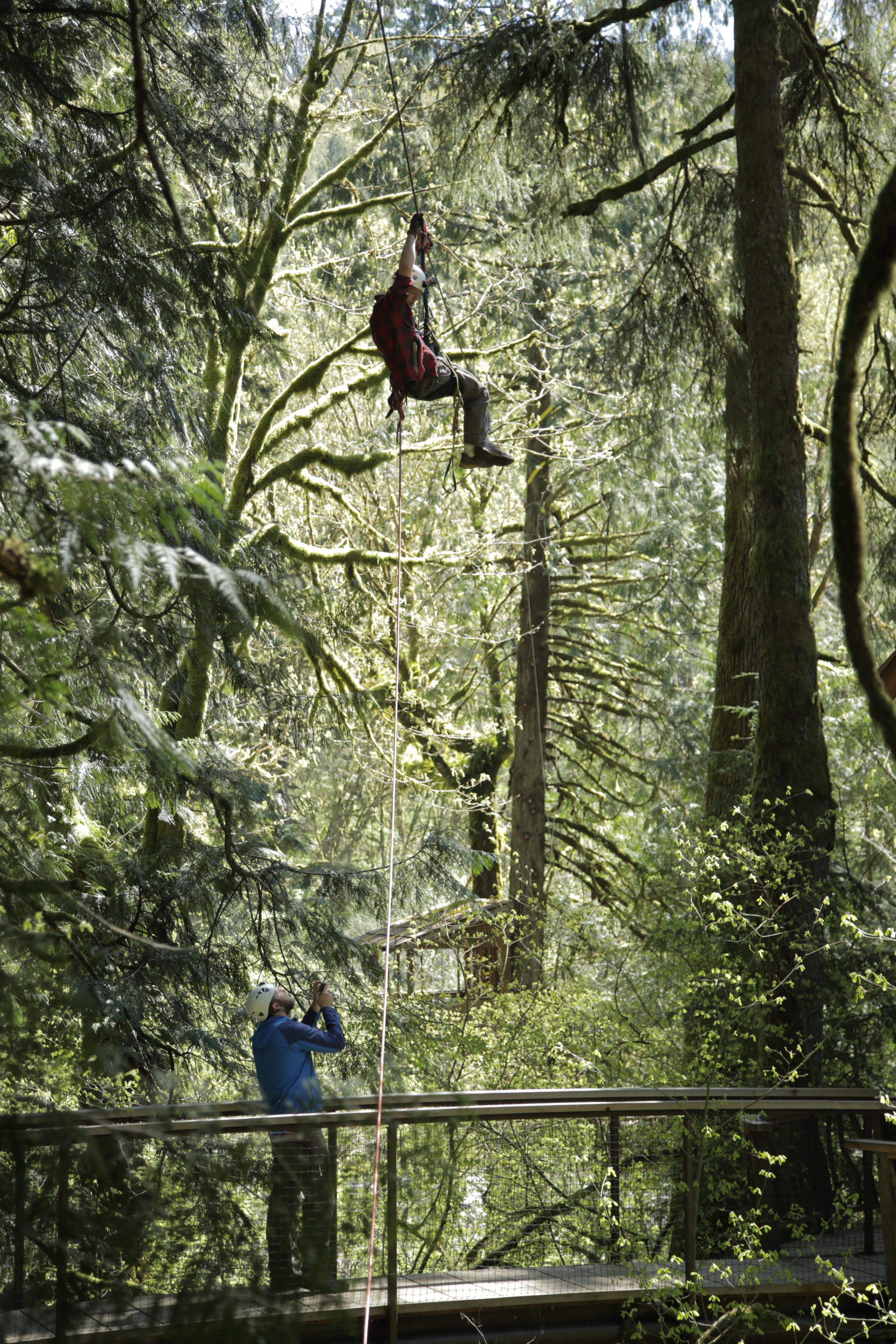 during his time with NT&S, Devin has acquired excellent rigging and tree-climbing skills.
