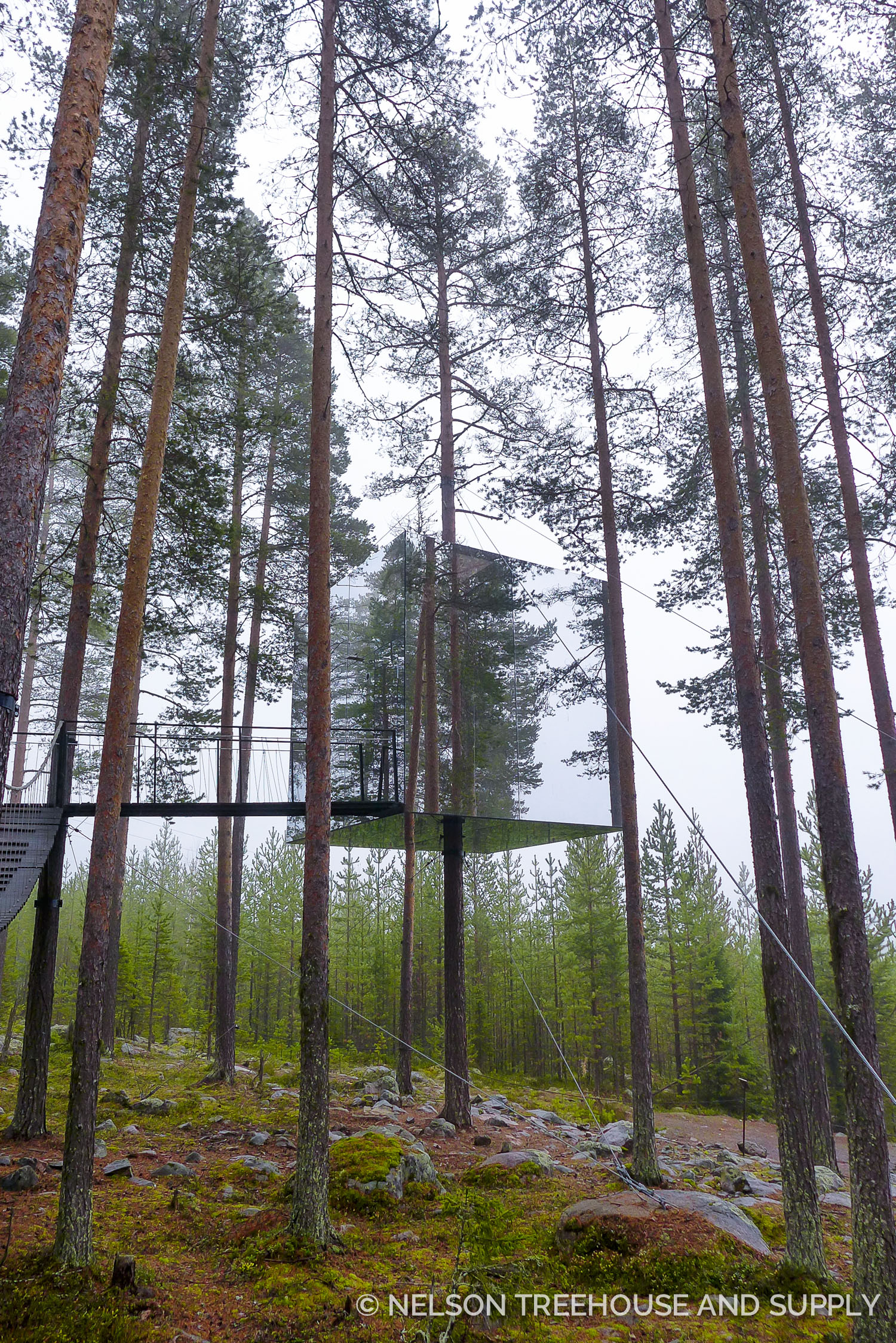 Pete admired the architectural creativity at Treehotel in Sweden.