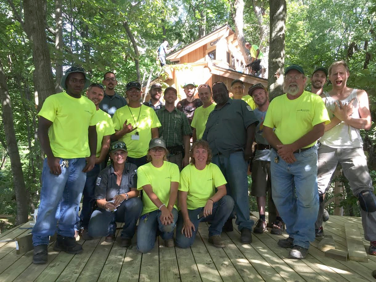 Patrick's photo of the wonderful volunteers from Genesee county Parks.