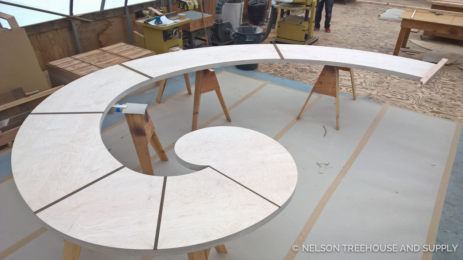 Completed surface of the Fibonacci Spiral Bench
