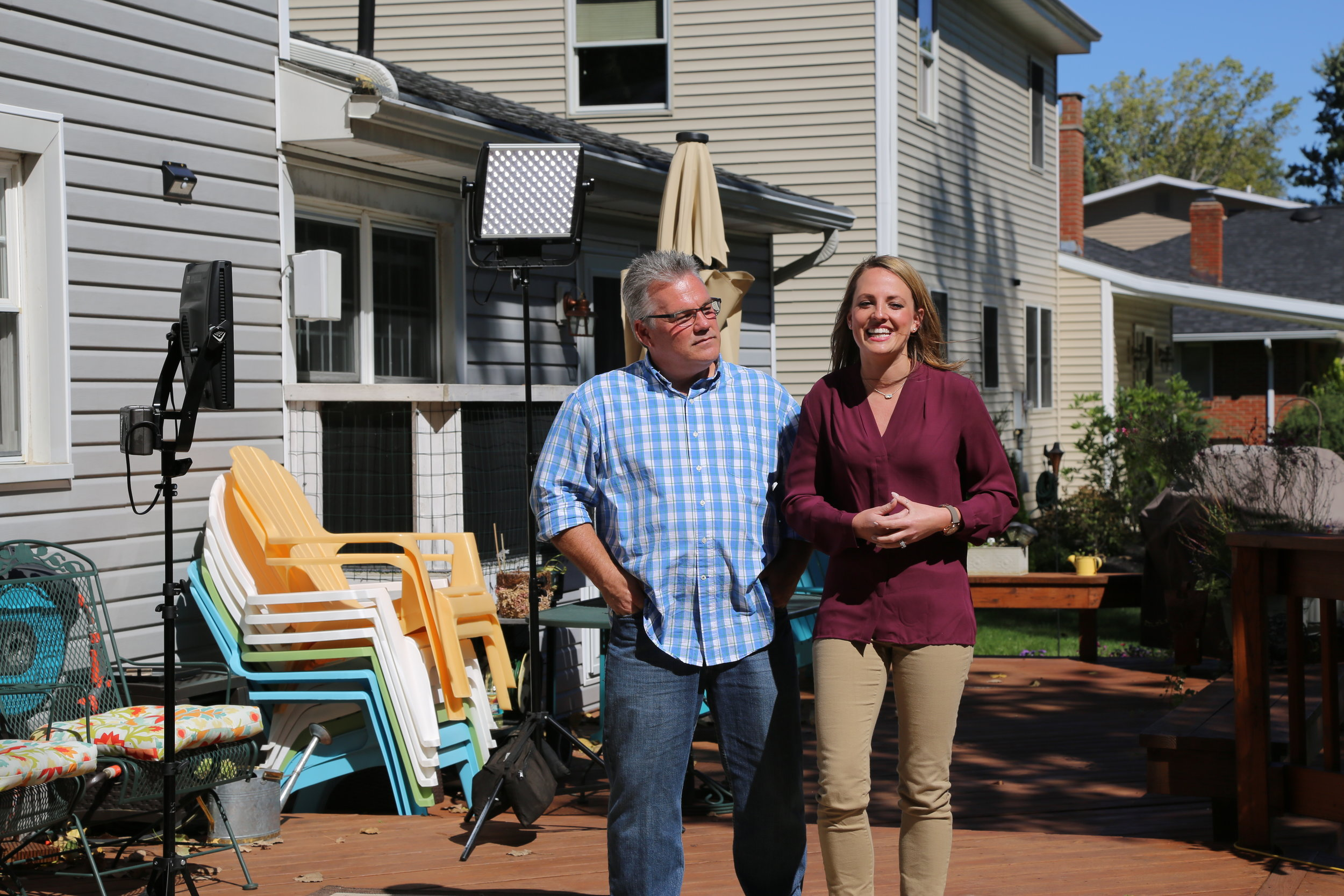 Vanessa thought she and her family were just interviewing as finalists for a treehouse makeover contest. Little did she know that her dad, Steve was in on the secret that I was just around the corner!