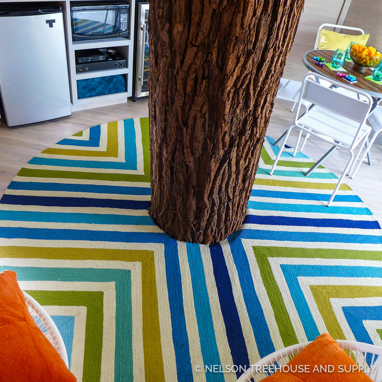 Christina found this vibrant rug at Joss & Main.