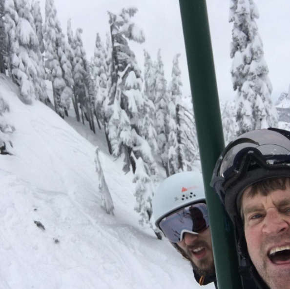 Nelson family skiing